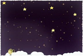 Wishing on a star.