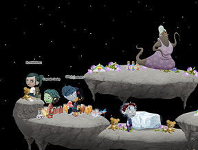 I left the window open, 1 1/2 hours later I'm still here with my friends on the moon with Helga and all the booze. I told you I wasn't hallucinating.